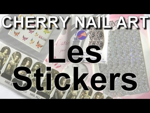 comment appliquer stickers ongles