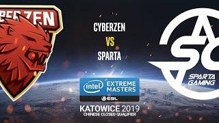 CyberZen vs. Sparta - IEM Katowice 2019 Closed Minor China QA - map3 - de_dust2 [SSW]