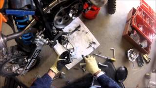 7. 2008 KTM 50sx clutch service