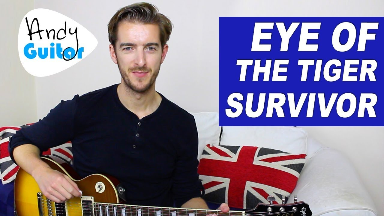 Eye Of The Tiger Guitar lesson – EASY Electric Guitar Songs