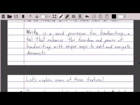 Video of Write