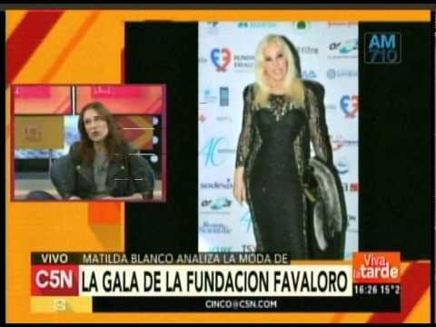 C5N – MODA MATILDA BLANCO ANALIZA LA GALA DE LA FUNDACION FAVALORO