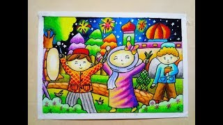 Download Video Cara Mewarnai Gradasi Oilpastel / Crayon : Idul Fitri MP3 3GP MP4