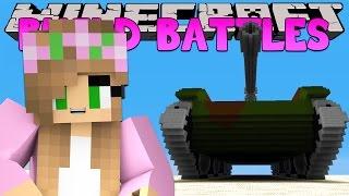 Minecraft Little Kelly : BUILD BATTLE -EPIC TANKS w/ LittleLizard