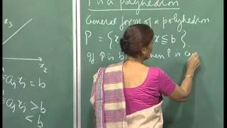 Mod-01 Lec-05 Convex Sets, Dimension Of A Polyhedron, Faces, Example Of A Polytope.