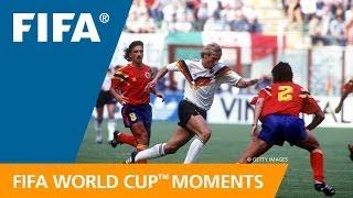 WM 1990: Carlos Valderramas Assist gegen Deutschland