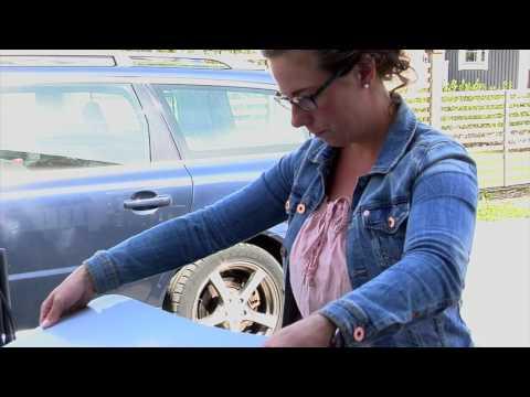 Autosonnenschutz, Einbau Solarplexius Volvo V 70 Kombi