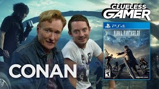"Clueless Gamer Conan O'Brien Plays ""Middle-earth Entourage"" AKA Final Fantasy 15"