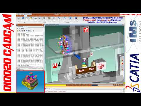 CATIA and IMSPOST for POST HAAS TR210 AB
