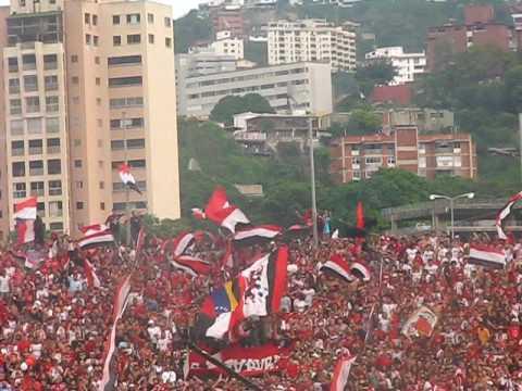 Barra del Caracas FC Final juego de ida Caracas vs tachira - Los Demonios Rojos - Caracas