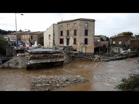 Εικόνες καταστροφής στη νότια Γαλλία