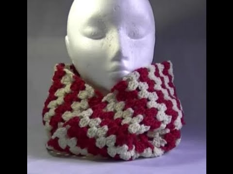 Infinity Scarf Crochet Tutorial -Granny on the Straight - Variation 2