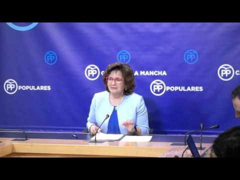 """Riolobos: """"El PP exige a Page que presente una solución legal para garantizar las 35 horas a los empleados públicos"""""""