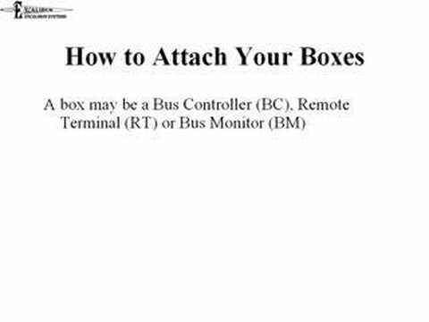 Short tutorial explaining how to connect a device to a MIL-STD-1553 bus