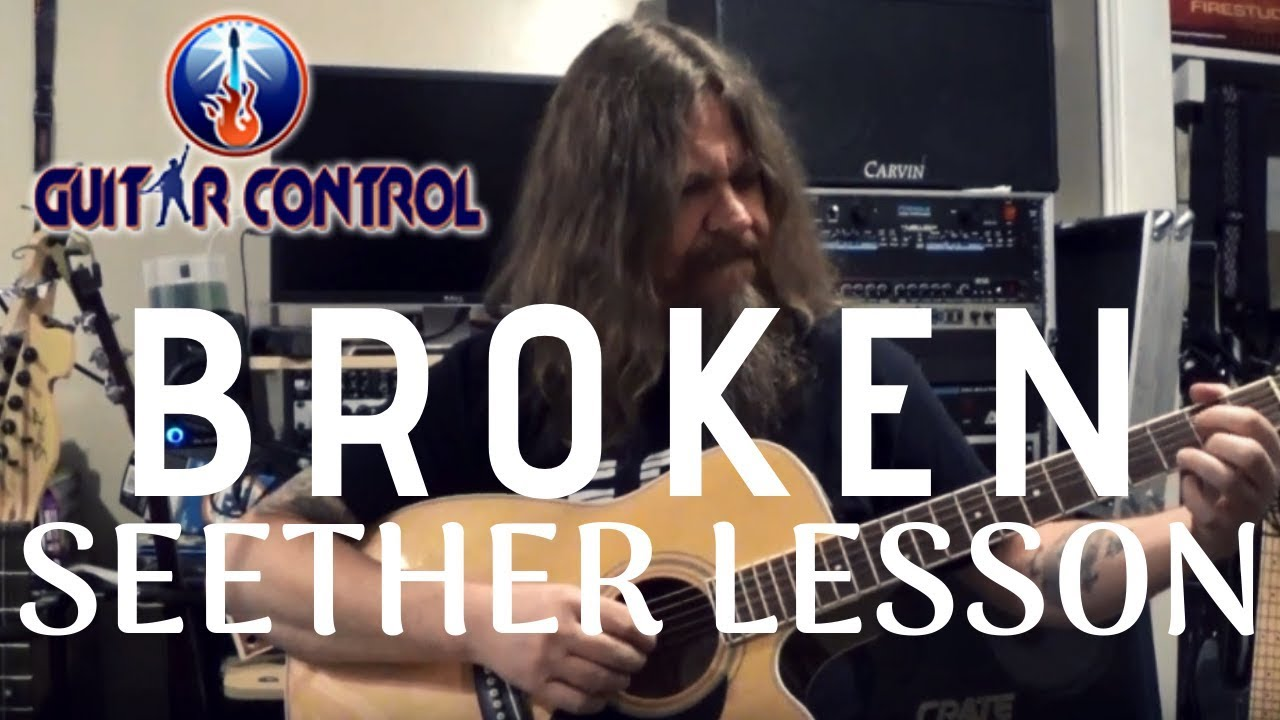 """How To Play The Intro From """"Broken"""" By Seether – Easy Acoustic Guitar Lesson For Beginners"""