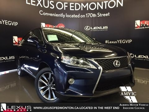 Used 2013 Blue Deep Sea Lexus RX 350 AWD F Sport In Depth Review | Fort McMurray Alberta