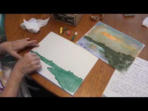 How to Draw Perseids Meteor Shower in Chalk Pastels