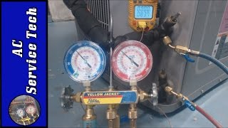 This is a STEP BY STEP PROCESS on How to Check a R-410a Refrigerant Charge on an Outdoor Air Conditioning Unit with 3 Position Service Valves otherwise known...