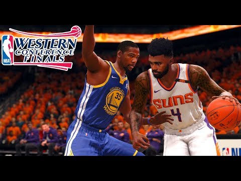 NBA LIVE 18 THE ONE CAREER - WESTERN CONFERENCE FINALS VS THE GOLDEN STATE WARRIORS