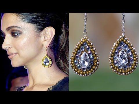 (DIY) Elegant Sabyasachi Inspired Earrings/Easy DIY/Designer Jewelry I SmithaDBeauty