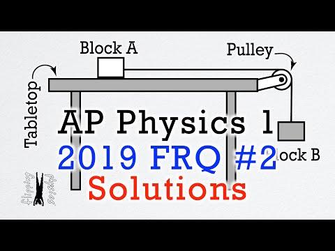 2019 #2 Free Response Question - AP Physics 1 - Exam Solution