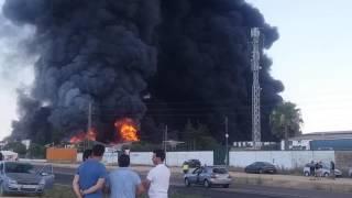 Incendio en la factoría Ybarra de Dos Hermanas el Sábado 16 Julio 2016