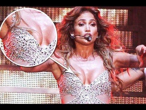 Jennifer Lopez Nip Slip on Stage in Italy