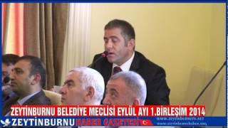 Zeytinburnu Belediye Meclisi Eylül Ayı 1 Birleşim 2014