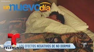 Video oficial de Telemundo Un Nuevo Día. Un nuevo estudio confirmó las consecuencias que tiene para tu salud dormir pocas horas y nosotros te contamos las razones más comunes para la falta de sueño.YouTube: http://www.youtube.com/unnuevodiaOfficial page: http://www.Telemundo.com/UnNuevoDiaFacebook https://www.Facebook.com/UnNuevoDiaTwitter https://twitter.com/#!/UnNuevoDiaSUBSCRIBETE: http://bit.ly/1ykCaDrUn Nuevo Día:Es un programa de entretenimiento que ofrece las últimas noticias y titulares de la farándula, lo que está pasando en la vida de los famosos dentro y fuera de la pantalla. Además de los secretos más íntimos de los artistas, sus camerinos y sus hogares.SUBSCRIBETE: http://bit.ly/1ykCaDrTelemundoEs una división de Empresas y Contenido Hispano de NBCUniversal, liderando la industria en la producción y distribución de contenido en español de alta calidad a través de múltiples plataformas para los hispanos en los EEUU y a audiencias alrededor del mundo. Ofrece producciones originales, películas de cine, noticias y eventos deportivos de primera categoría y es el proveedor de contenido en español número dos mundialmente sindicando contenido a más de 100 países en más de 35 idiomas.FOLLOW US TWITTER: http://bit.ly/1aKzTGALIKE US ON FACEBOOK: http://bit.ly/1Bpw7JVGOOGLE+: http://bit.ly/1AyjyRkDescubre los efectos negativos de no dormir suficiente  Un Nuevo Día  Telemundo
