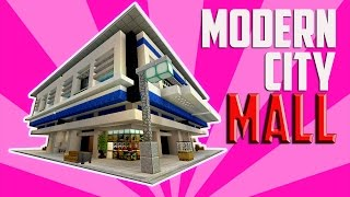 Minecraft City Decoration Ideas! Modern Shopping Mall and Train Station & More!