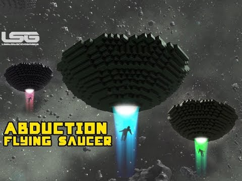 Space Engineers –  Alien Abduction Building A Classic Flying Saucer