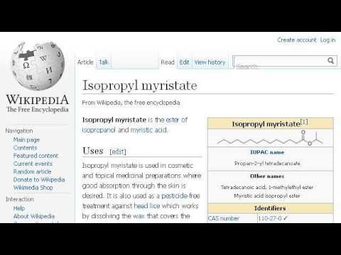 Explain What Isopropyl Myristate Is