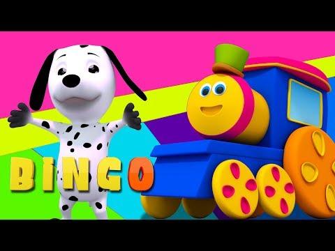 bob xe lửa   bingo con chó   vần điệu cho trẻ em   trẻ em bài hát   Bob Bingo the Dog Song