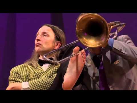 Brass - this is a little exerpt out of the new dvd magic moments from mnozil brass. find more info's here: http://www.mnozilbrass.at/shop.html.