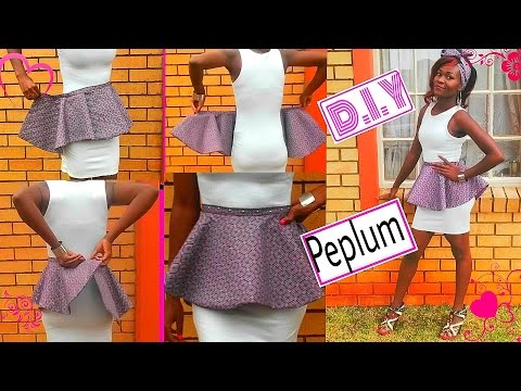 Detachable/removable peplum belt (african print) DIY sewing tutorial