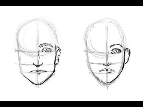 face men women drawing tutorial