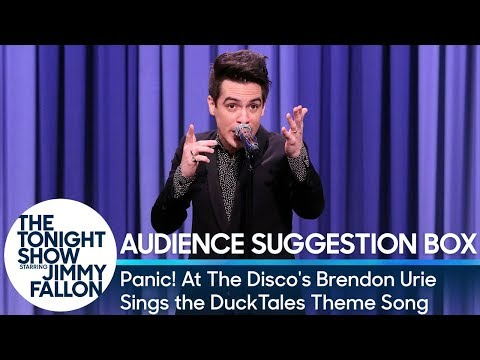 Panic! At The Disco's Brendon Urie Sings the DuckTales Theme Song (видео)