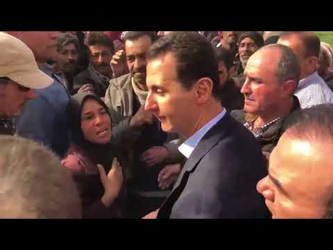 VIDEO 4 Some of the families of Eastern Ghouta , met with President Assad during his visit in Ghouta (видео)