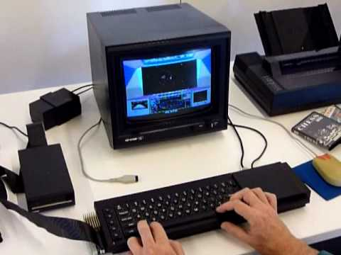 Sinclair QL ELITE 3D demo 1991