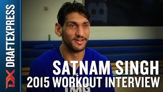 Satnam Singh 2015 NBA Draft Workout Interview
