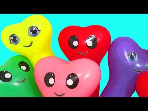 Шарики с водой Учим цвета Развивающее видео Детям Поем песню Семья пальчиков Лопаем Воздушные шарики (видео)
