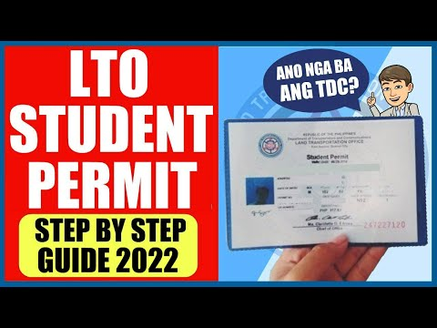 PAANO KUMUHA NG STUDENT PERMIT   STEP BY STEP GUIDE 2021 with TDC FAQS