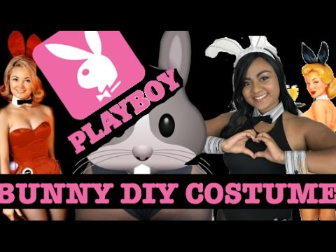 Easy Playboy Bunny DIY Costume Tutorial -  NO SEW - Happy Easter!
