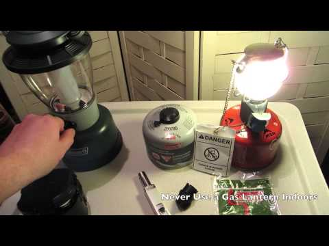 500ssman - What do you like or think is better Gas or LED lanterns? Shown in video are the Coleman LED Rugged Lantern Rechargeable with 190 Lumens and CPX 6 Compatible....