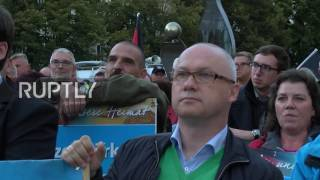 Dessau-Rosslau Germany  City new picture : Germany: 'Merkel must go' - AfD rally against refugee policy in Dessau-Rosslau