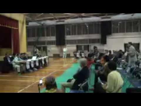 140417京丹後市米軍基地建設、住民説明会 @峰山小学校体育館