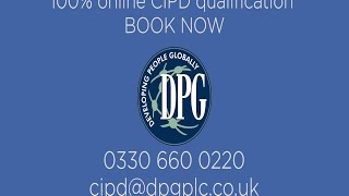 DPG online HR Qualification with Free ILM Management Qual for no extra work