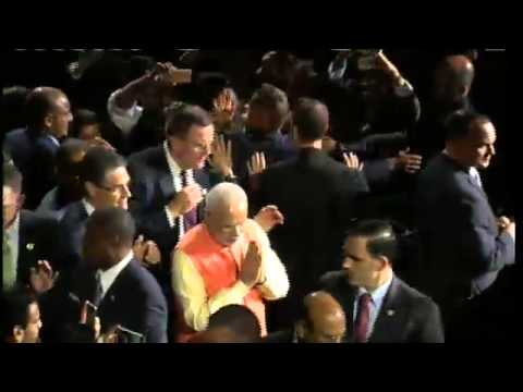 madison - The Prime Minister, Shri Narendra Modi addressing the Indian Community, at Madison Square Garden, in New York on September 28, 2014.