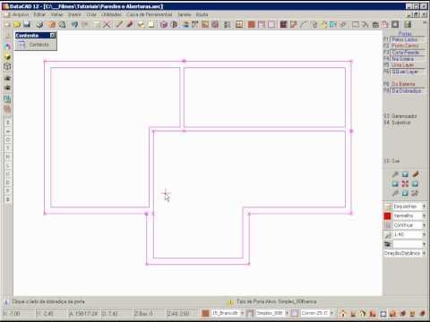 DataCAD 12 - Paredes e Aberturas