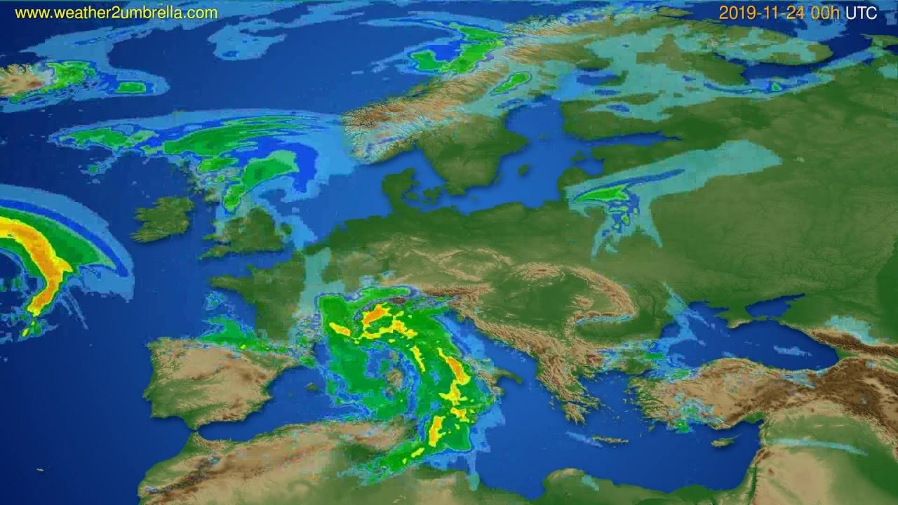 Radar forecast Europe // modelrun: 12h UTC 2019-11-23